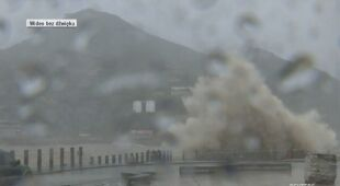 Tajfun Lekima przyniósł ze sobą intensywne opady deszczu