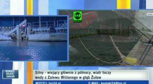 Aktualna sytuacja na północy kraju (TVN24)