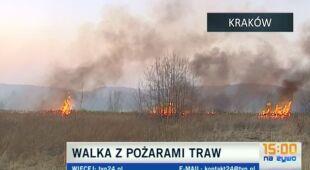 Niebezpieczne wypalanie traw w Polsce (TVN24)